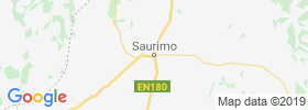 Saurimo map