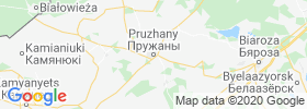 Pruzhany map