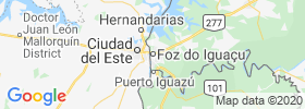 Foz Do Iguacu map