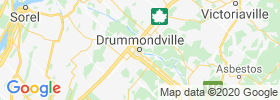 Drummondville map