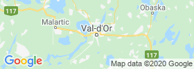 Val D'or map