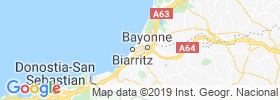 Anglet map