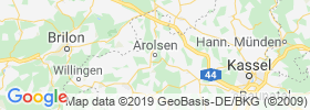 Bad Arolsen map