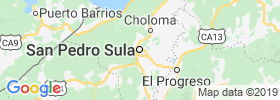 San Pedro Sula map