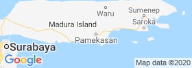 Pamekasan map