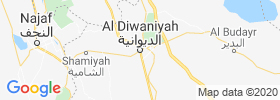 Ad Diwaniyah map