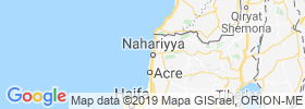 Nahariya map