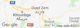 Oued Zem map
