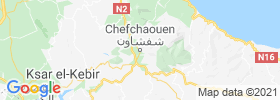 Chefchaouene map