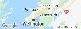 Lower Hutt map