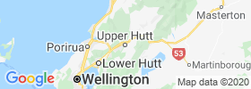 Upper Hutt map