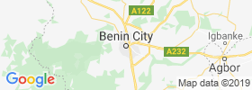 Benin City map