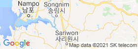Hwangju Up map