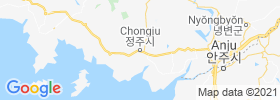 Chongju map