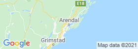 Arendal map