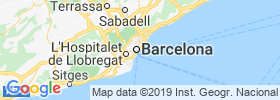 Barceloneta map