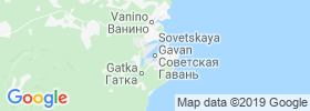 Sovetskaya Gavan' map