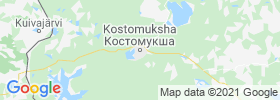 Kostomuksha map