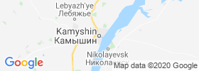 Kamyshin map
