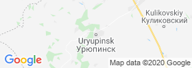 Uryupinsk map
