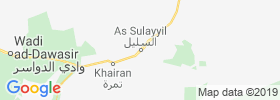 As Sulayyil map