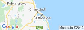 Batticaloa map