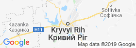 Kryvyi Rih map