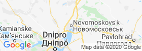 Novomoskovs'k map
