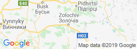 Zolochiv map