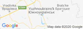 Yuzhnoukrains'k map