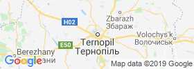 Ternopil' map
