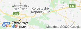 Korostyshiv map