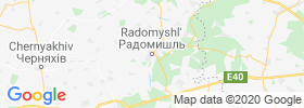 Radomyshl' map