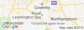Royal Leamington Spa map