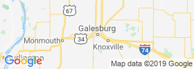 Galesburg map