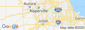 Romeoville map