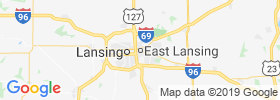 East Lansing map