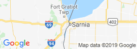 Port Huron map
